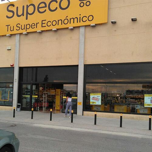 Láminas de escaparate para supermercados