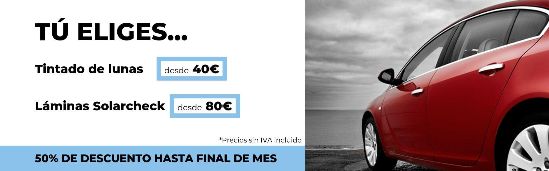 oferta en tintado de lunas Solarcheck Sevilla